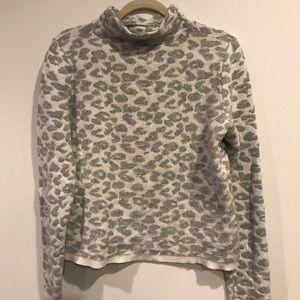 Loft snow leopard sweater